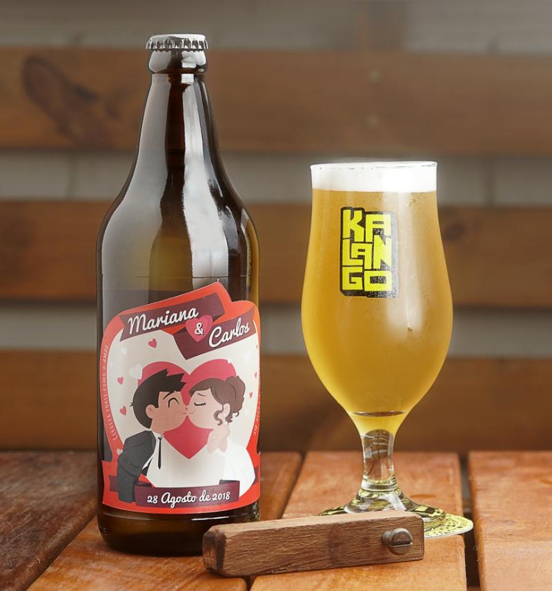 garrafa personalizada kalango cervejaria cerveja artesanal