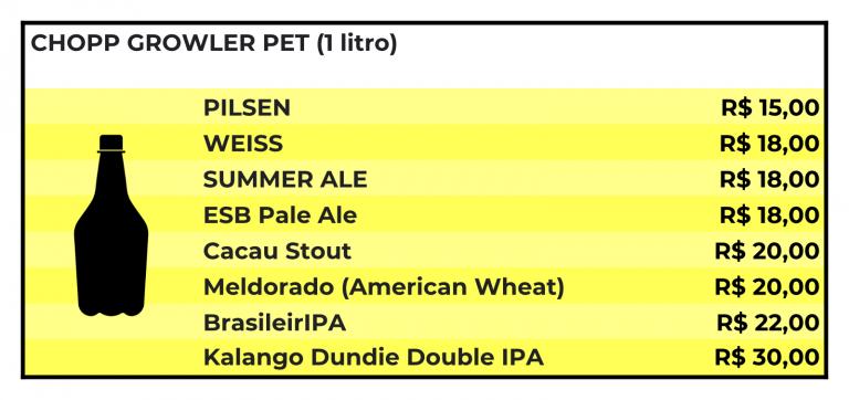 kalango cervejaria tabela delivery chopp preços preco carveja artesanal cervejaria
